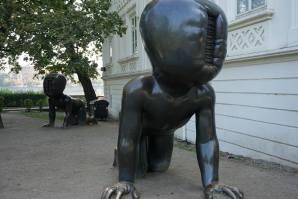 """David Cerny's """"crawling babies"""""""