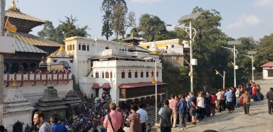 The eastern ghats, in front of the main temple