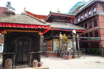 Hindu shrine in a courtyard